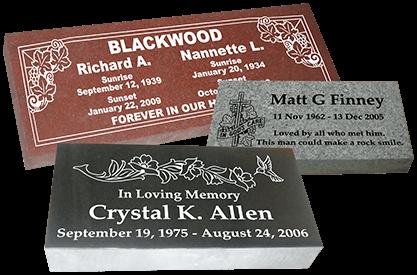 headstones gravestones grave markers by affordable markers. Black Bedroom Furniture Sets. Home Design Ideas