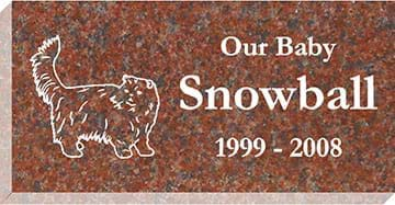 "Pet Grave Marker 16"" x 8"" x 3"" - Red"